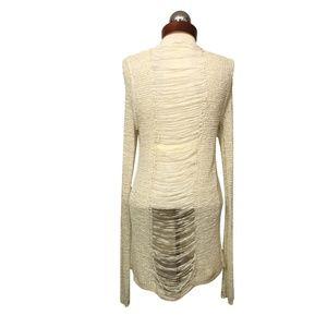 Shredded back open knit cardigan Daytrip BKE M